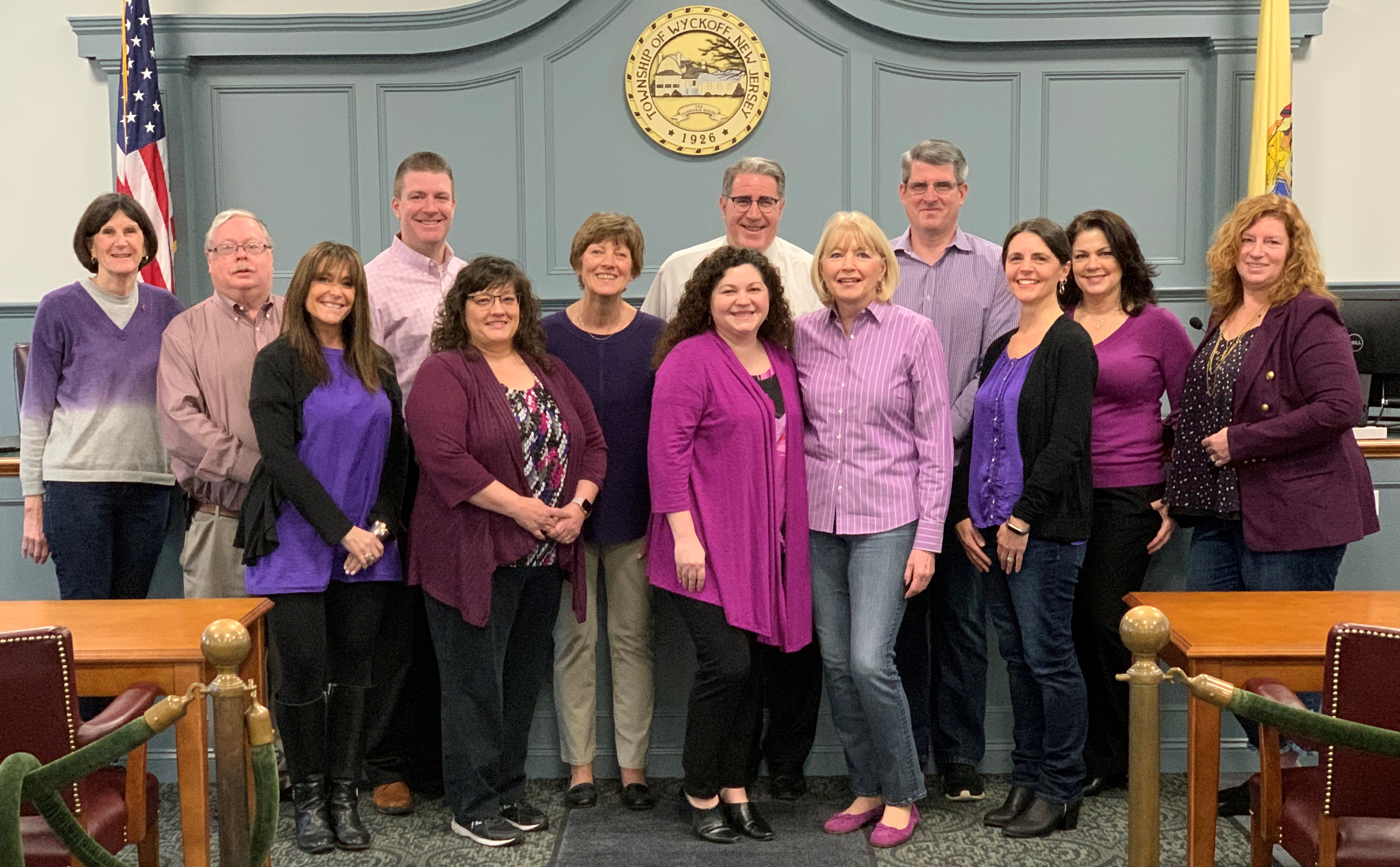 Purple worn to celebrate the 100th anniversary of the 19th amendment