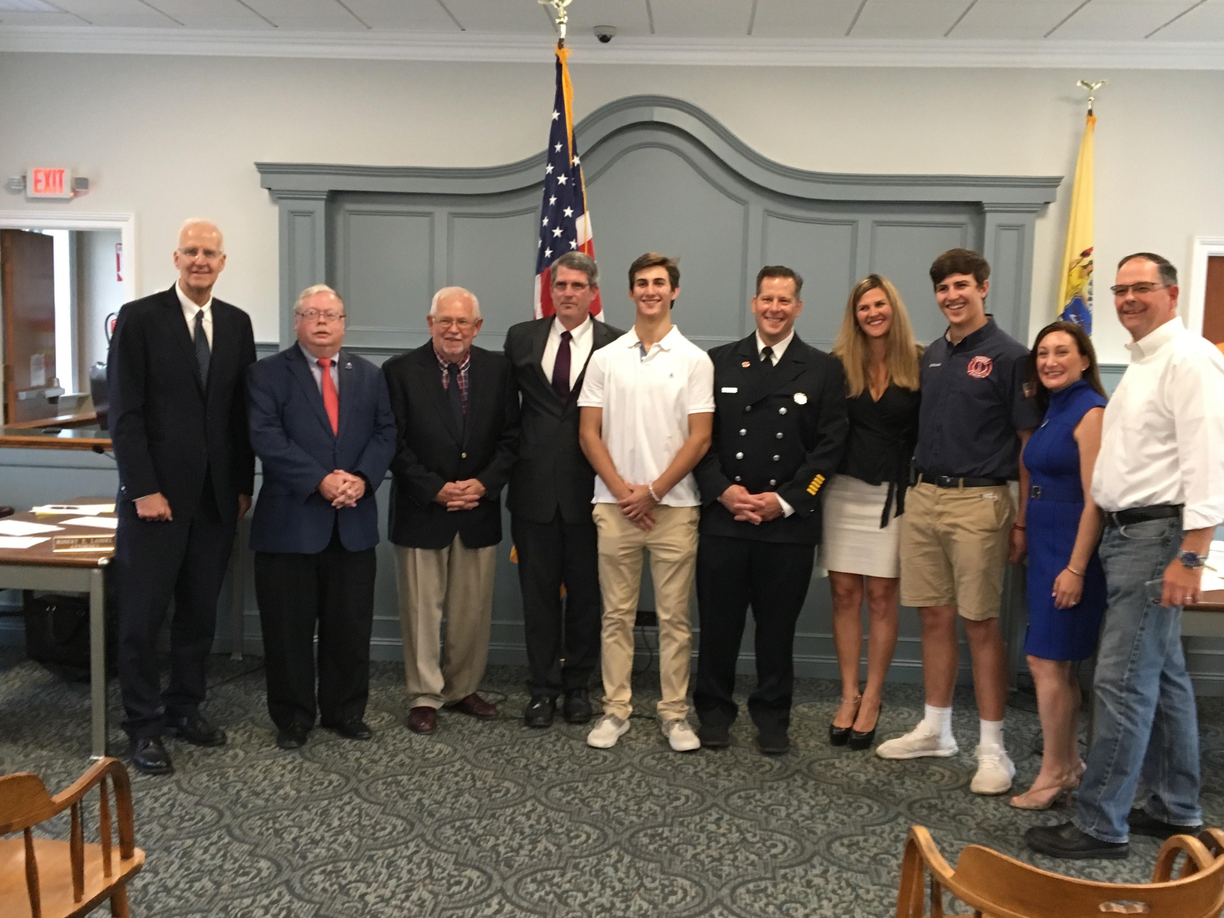 Jr. Firefighter is Sworn In July 16, 2019
