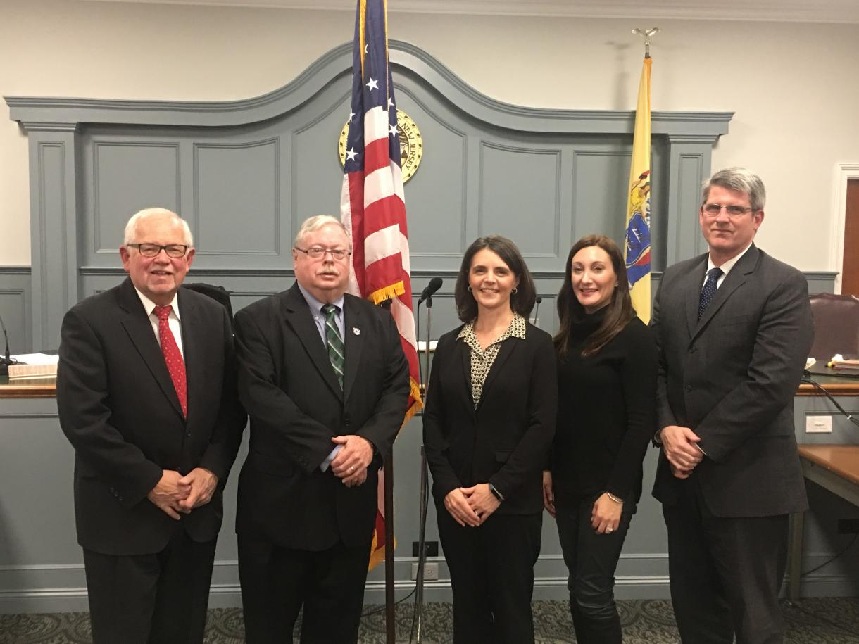 2020 Township Committee members left to right, Rudy Boonstra, Tom Madigan, Elizabeth Fischer, Melissa Rubenstein and Tim Shanley
