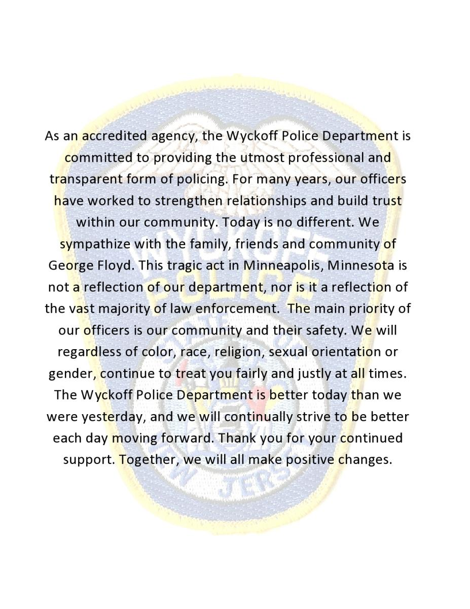 Police Department Statement