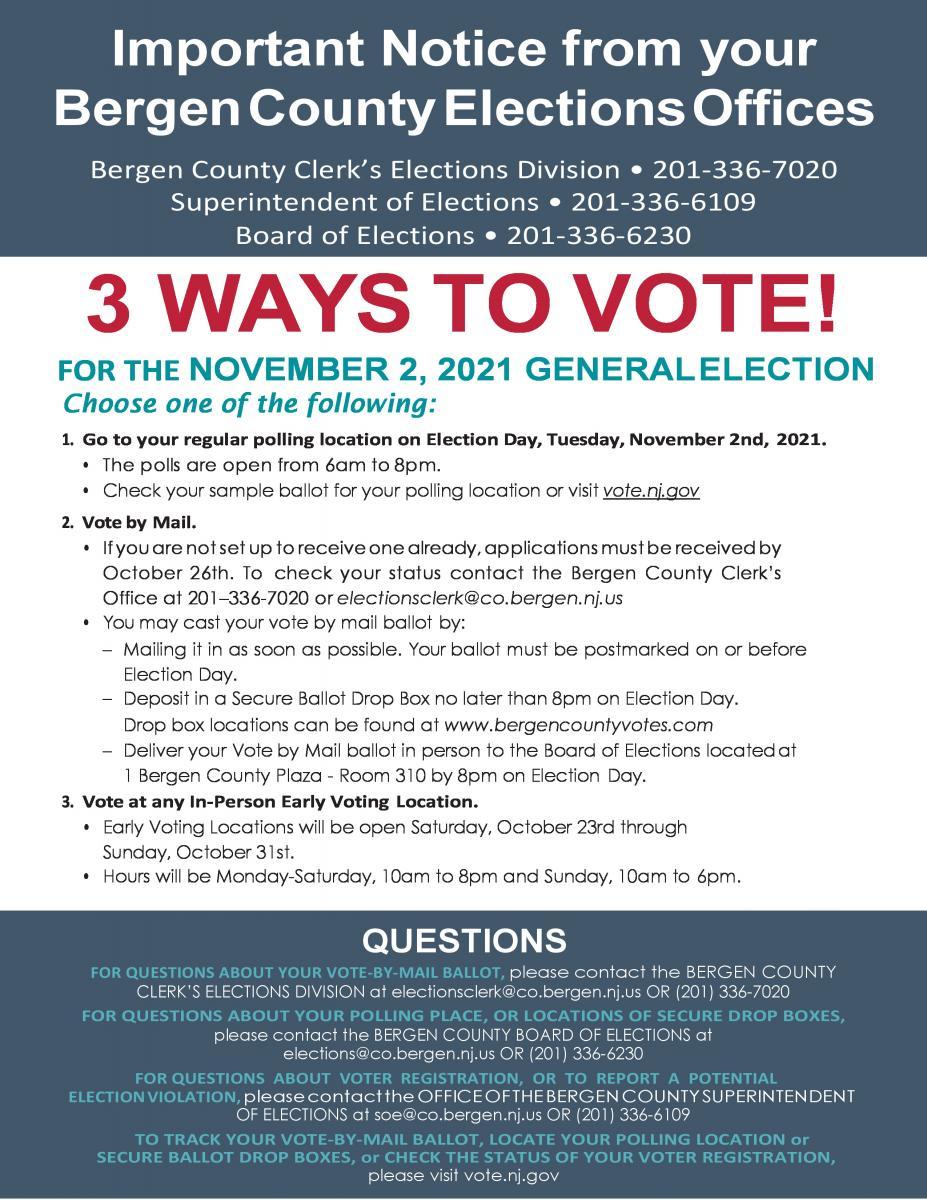 Three ways to Vote