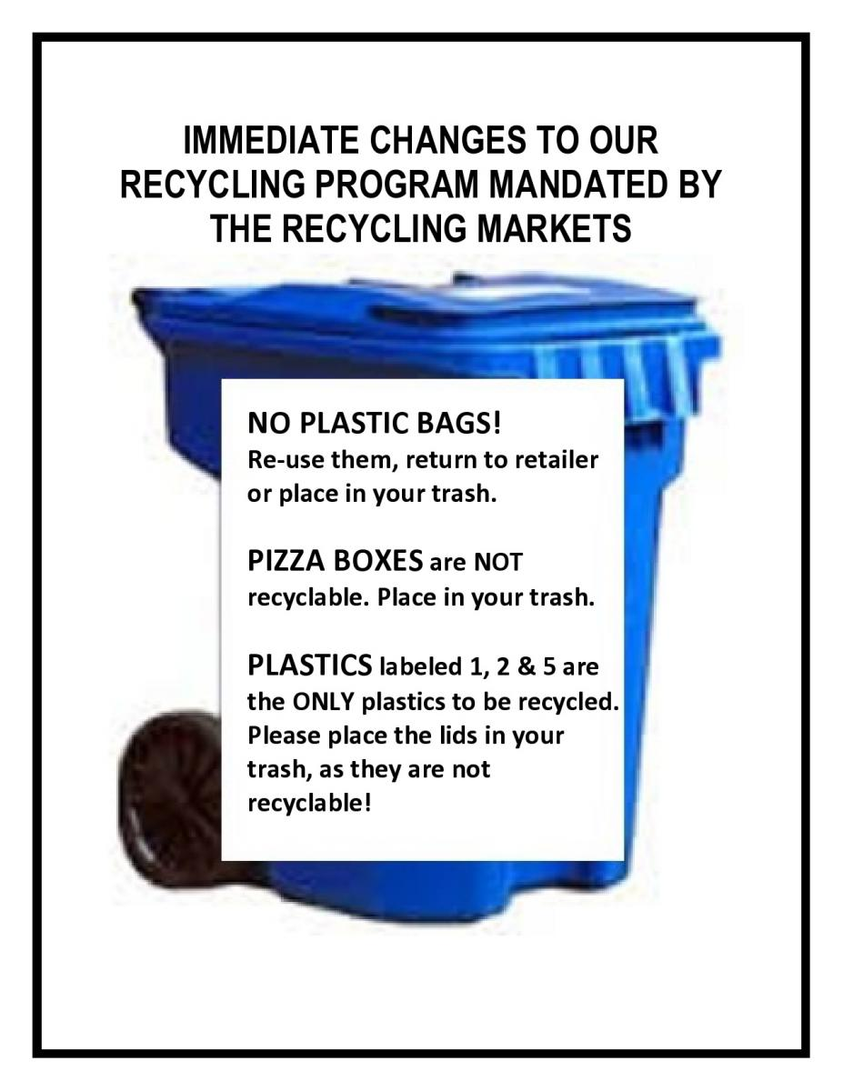 Immediate Changes for Recycling