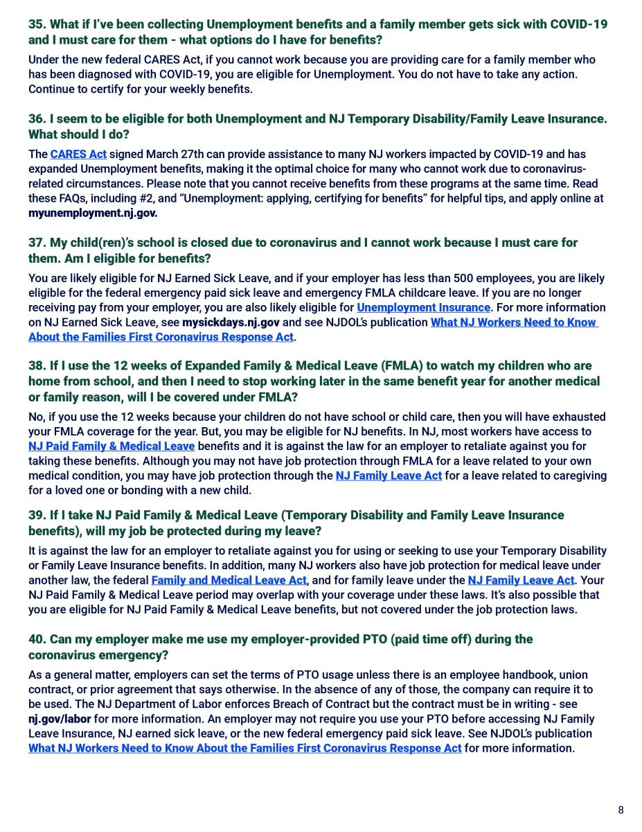 NJ Workers FAQs page 8