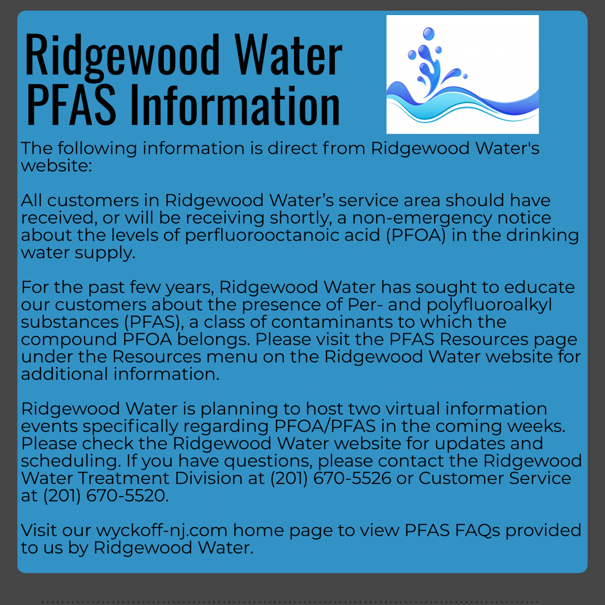 Ridgewood Water