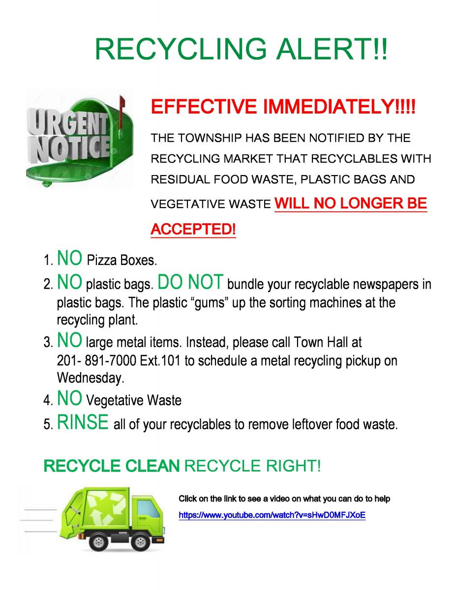Recycling - No Plastic Bags
