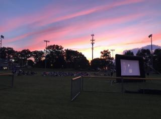 Movie with sunset
