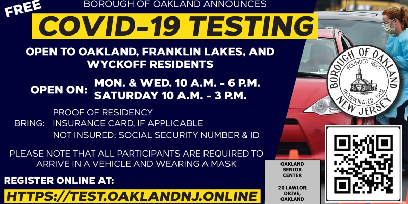 Covid Testing Available in Oakland