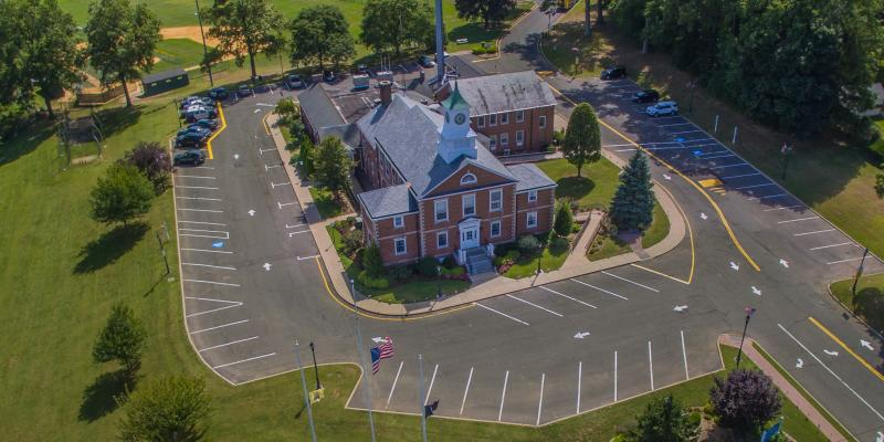 Aerial View of Town Hall